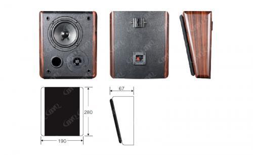 木質壁掛音箱