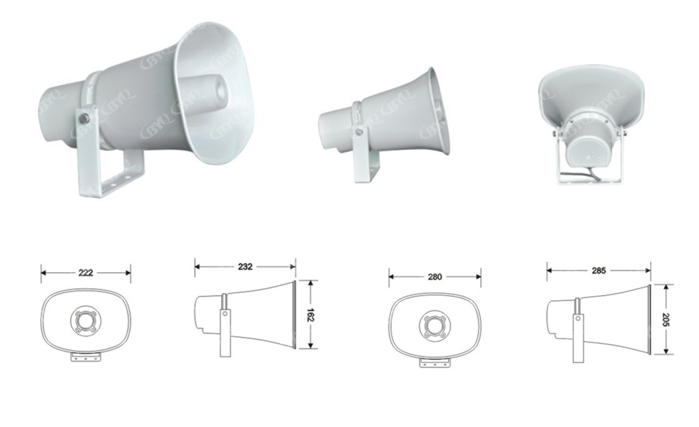 廣頻域防水號角喇叭