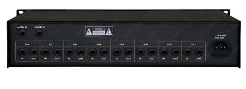 n  具有多路话筒,音频及紧急信号输入线路,八通道输出的前置放大器